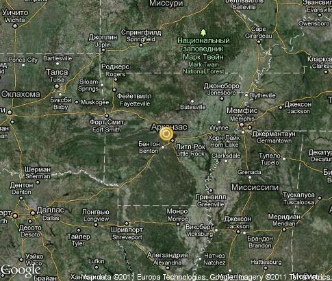 阿肯色州: 视频, 地标, 卫星地图 - 美国 , tours tv