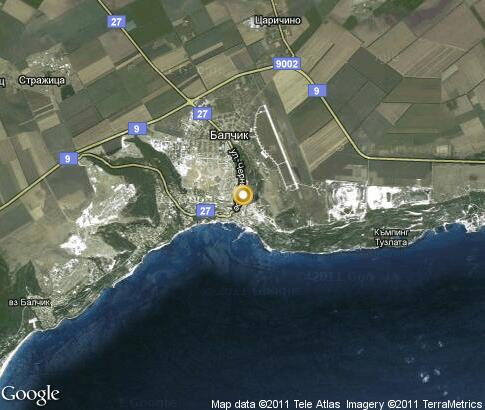 Варна на карте болгарии