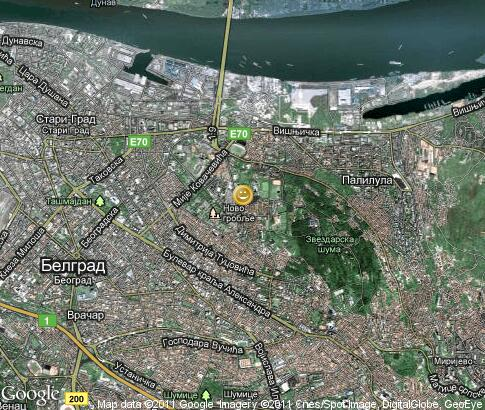 map: Belgrade, entertainment