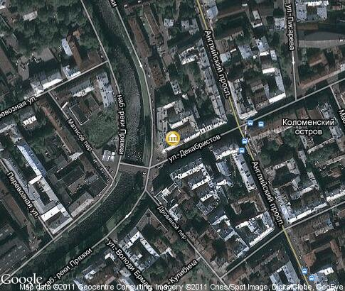 map: Alexander Blok Apartment Museum