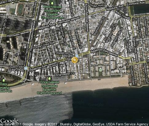 map: Brighton Beach