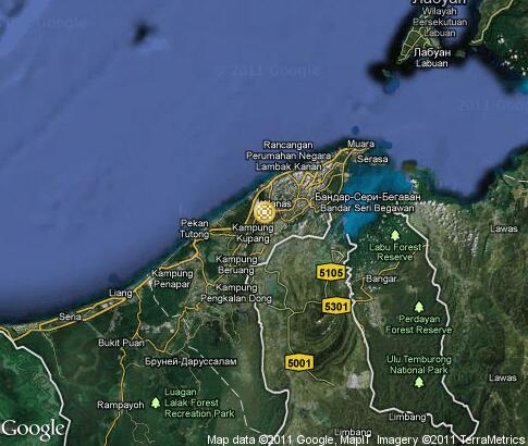 map: Brunei, ethnographic