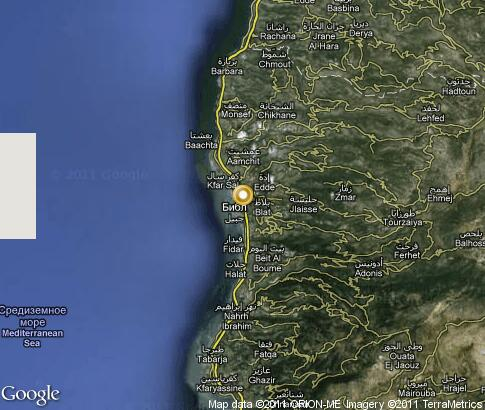 map: Byblos