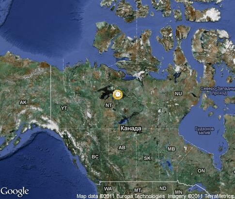 map: Canada, nature