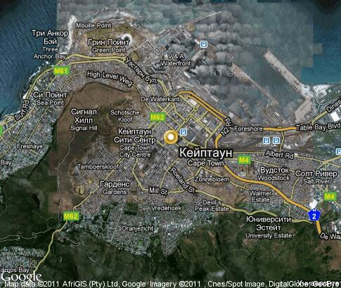 map: Cape Town
