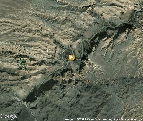 map: Charyn Canyon