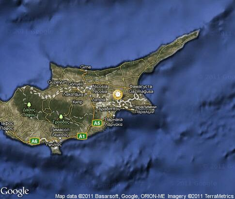 map: Cyprus, nature
