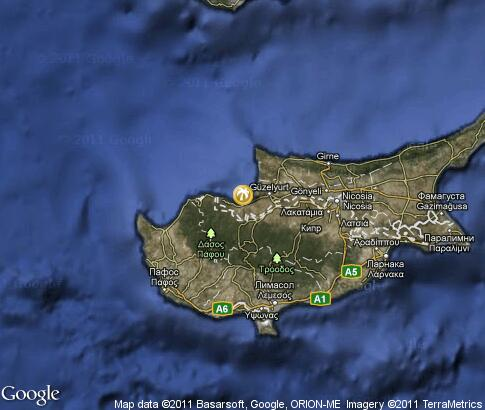 map: Cyprus, resort