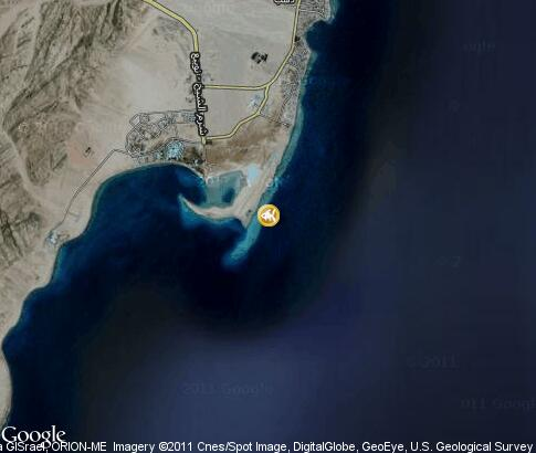 map: Dahab, diving