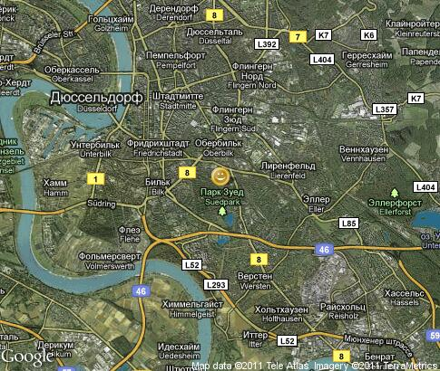 map: Duesseldorf, entertainment