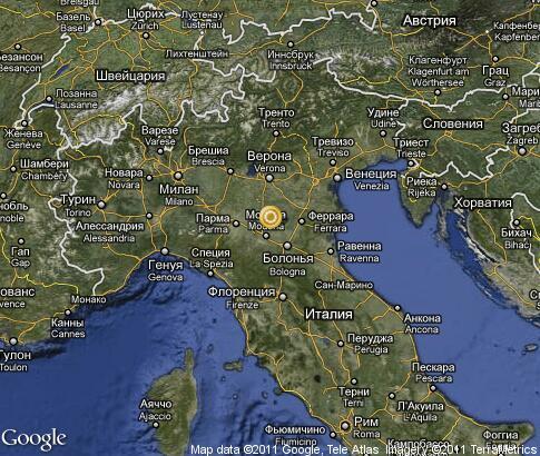 艾米利亚-罗马涅: 卫星地图
