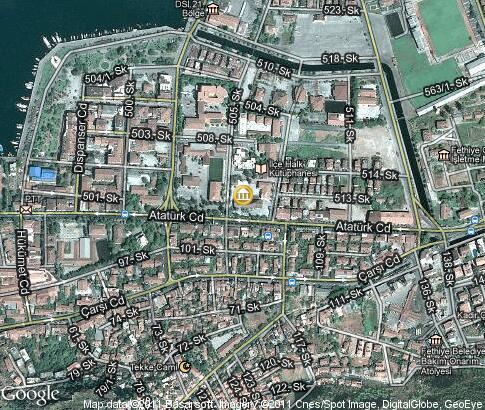 Fethiye Museum: video, popular tourist places, Satellite ...