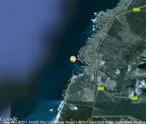 マップ: Gansbaai, Shark Cage Diving