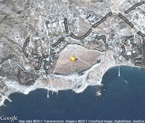 map: Genoese fortress in Sudak