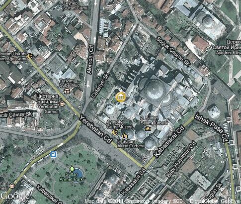 Hagia Sophia Video Popular Tourist Places Satellite Map