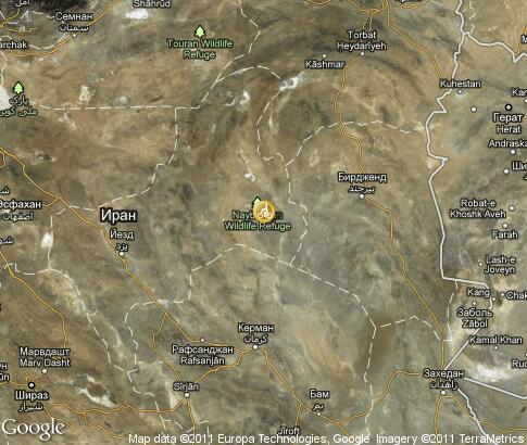 map: Iran, biking