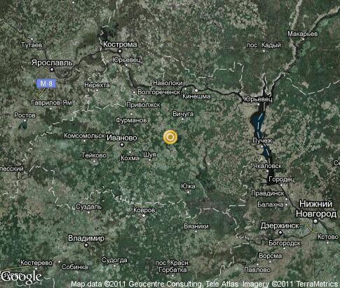 Карта ивановская область