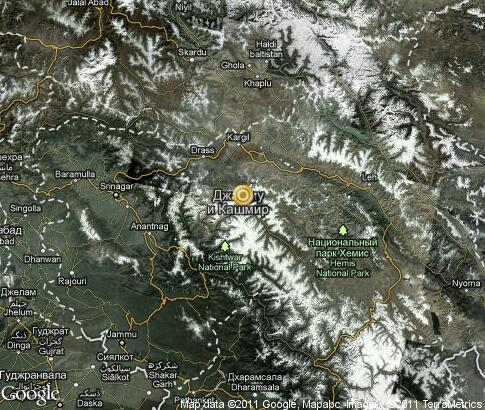 map: Jammu and Kashmir