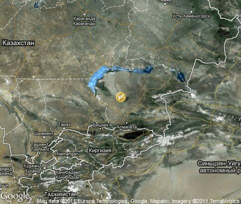 map: Kazakhstan,rafting