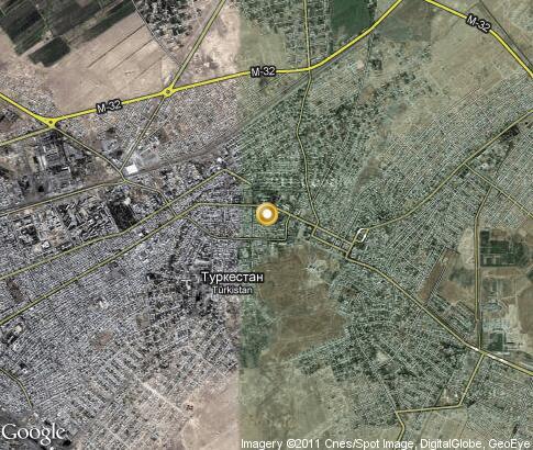 Интерактивная карта туркестан