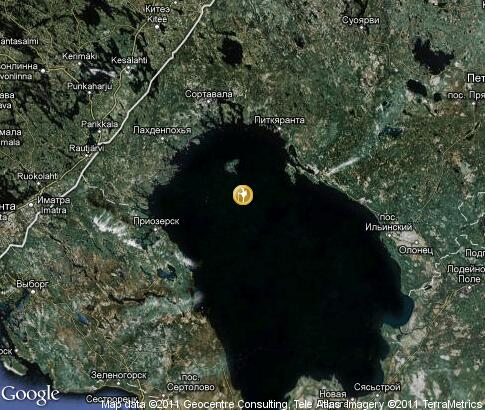 map: Lake Ladoga, tourism