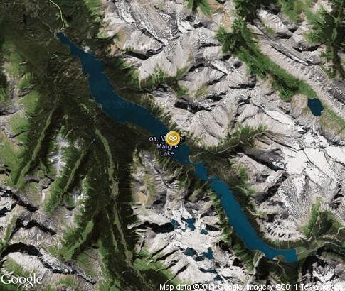 map: Maligne Lake