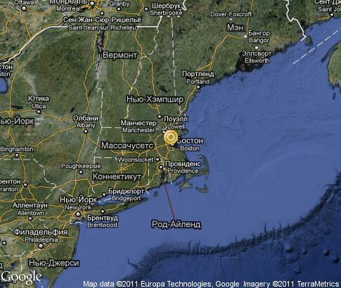 麻萨诸塞州: 卫星地图