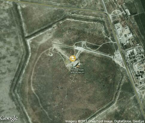 map: Mausoleum of Arystan-bab