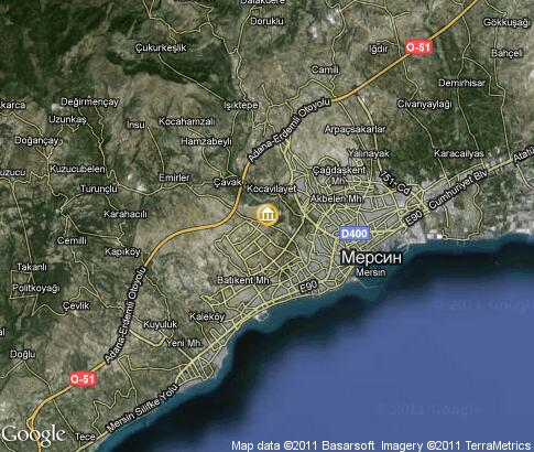 map: Mersin, ancient sites