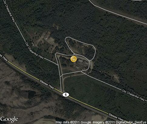 map: Motorcycle Run, Chatanika