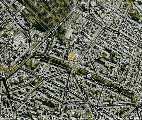 Moulin Rouge: video, por tourist places, Satellite map ... on topographic map of paris france, online map of paris france, detailed map of paris france, road map of paris france, mapquest paris france, satellite view of paris france, physical map of paris france,