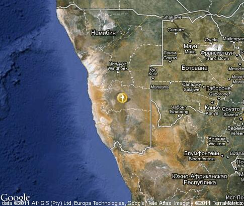 map: Namibia, tourism