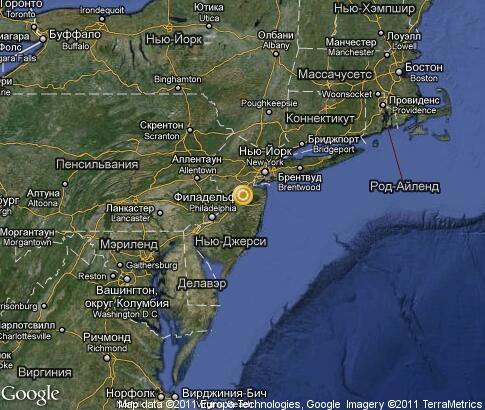 详细的卫星地图 新泽西州