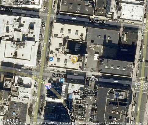 map: New York City Fire Museum