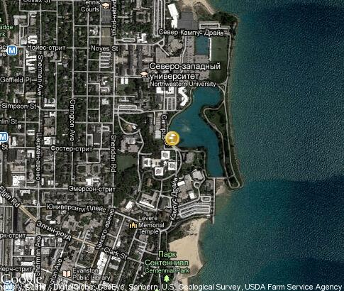 map: Northwestern University