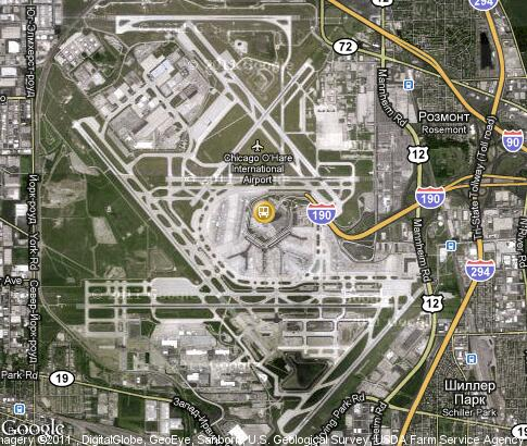 map: O`Hare Airport