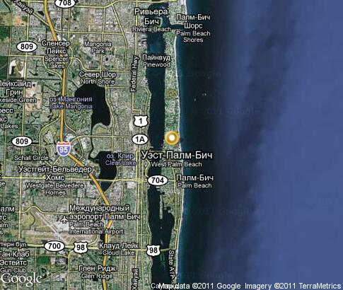 map: Palm Beach