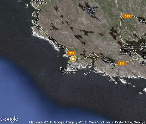 map: Peggys Cove