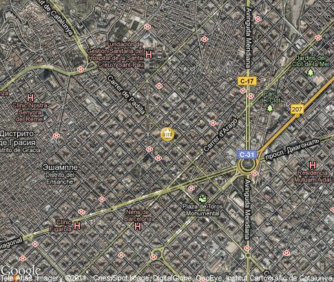 地标, 卫星地图