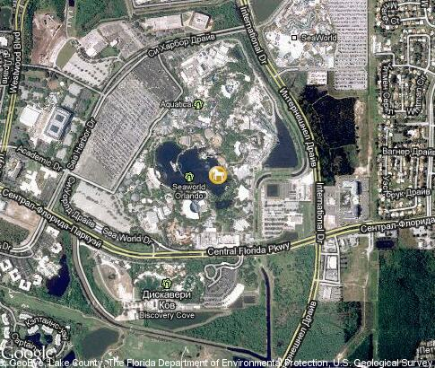 map: SeaWorld