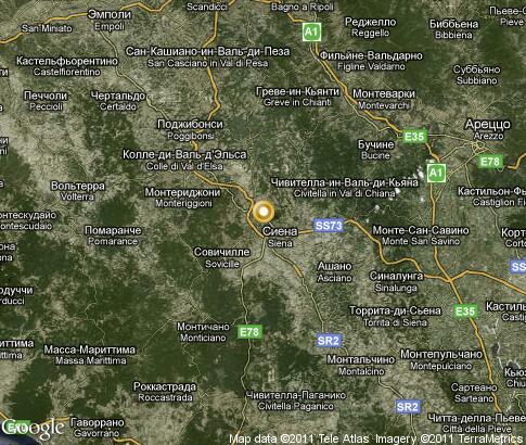 Подробная интерактивная карта сиена