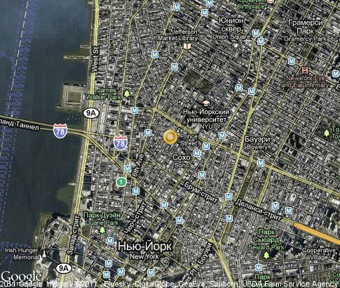 SoHo Video Popular Tourist Places Satellite Map  New