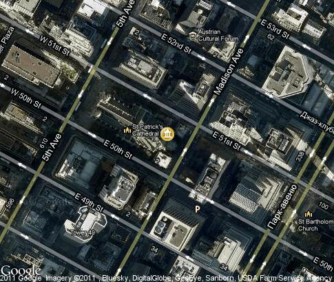 map: St. Patrick`s Cathedral
