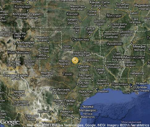 Texas Popular Tourist Places Satellite Map United