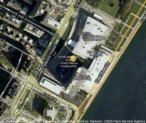map: United Nations Headquarters