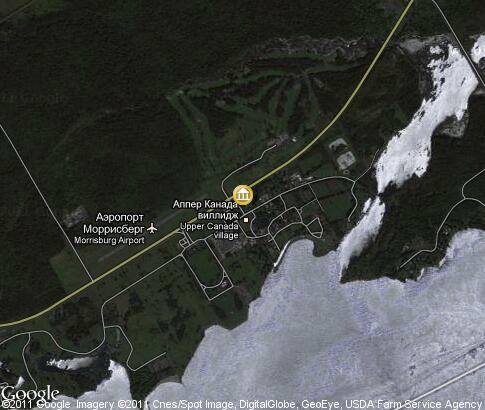 map: Upper Canada Village