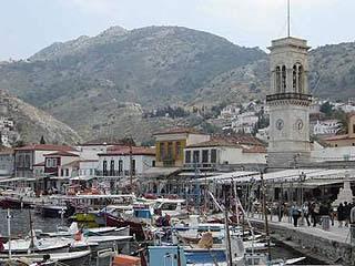 Идра, остров:  Греция:      Идра, город
