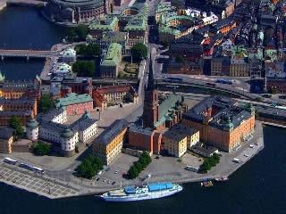ストックホルム:  スウェーデン:      Riddarholmen, Stockholm