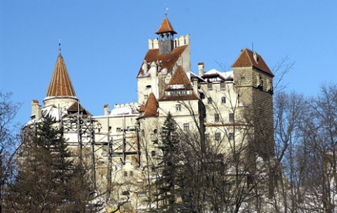 The medieval Bran Castle better known as Dracula Castle, was built in XIV century. Covered with legends, it annually attracts thousands of tourists