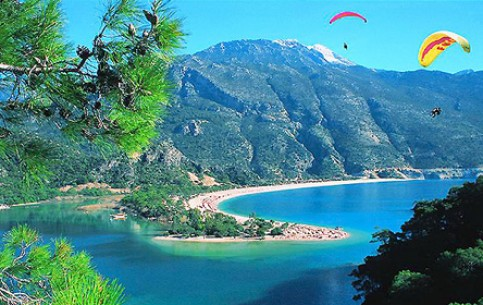 Most European resort, the main yachting center. Antiquity in Marmaris contrasts with modernity. Beach is in an enclosed bay, where is always a calm and transparent sea